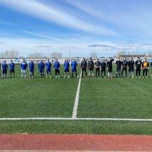 На Стадионе имени Юрия Спиридонова прошёл товарищеский матч по футболу, посвящённый празднованию Победы в ВОВ!
