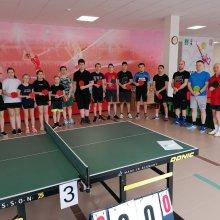 Более 20 любителей ракетки и мяча сразились в Первенстве города по настольному теннису, посвящённом Дню Победы